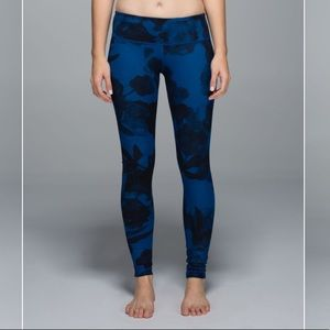 Lululemon Athletica Wunder Under floral leggings